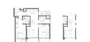 parc-clematis-floor-plan-2-bedroom-dual-key-type-2-br-dk-1-singapore