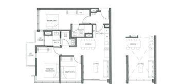 parc-clematis-floor-plan-3-bedroom-dual-key-type-3br-dk-1-singapore